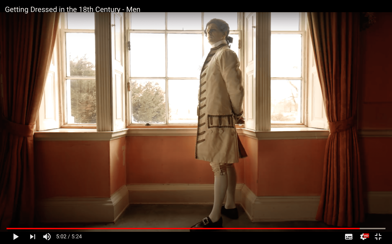 18世紀ヨーロッパ 男性の着付け